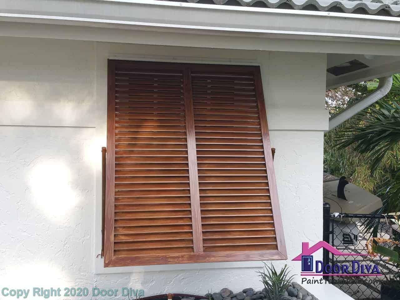 Shutters Wood Grain Paint Door Diva