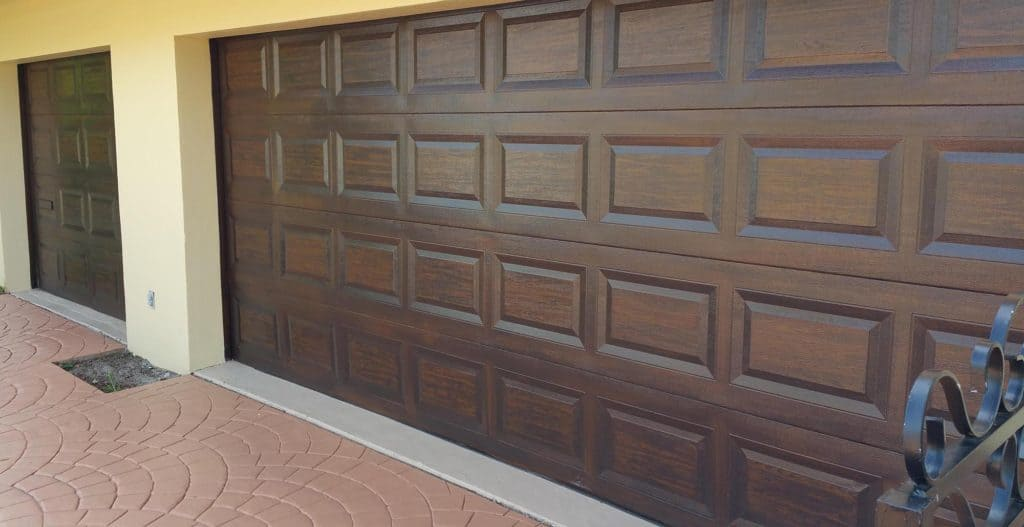 Walnut wood grain painting